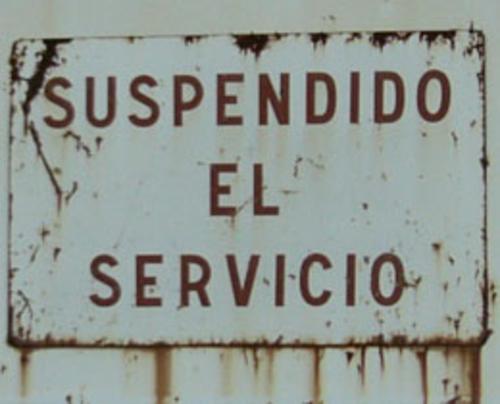 Resultado de imagen para imagenes de servicios suspendidos